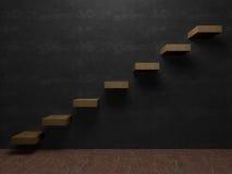 Лестница к перспективе интерьеров успеха Стоковые Фото
