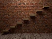Лестница к перспективе интерьеров успеха Стоковые Фотографии RF