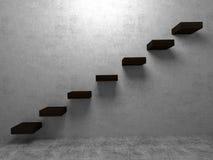 Лестница к перспективе интерьеров успеха Стоковое Изображение