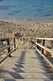 Лестница к пляжу Стоковая Фотография RF