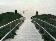Лестница к пляжу Стоковые Фотографии RF