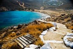 Лестница к пляжу Стоковые Изображения