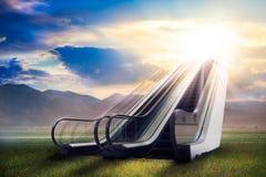 Лестница к раю/сверхконтрастное, смесь фото стоковое изображение