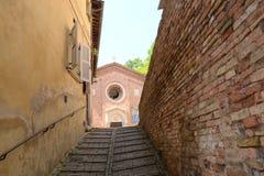 Лестница к церков Стоковые Изображения RF