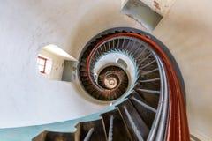 Лестница маяка Lyngvig Fyr около Hvide Sande Стоковое Фото