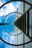 Лестница металла пожарной лестницы Стоковые Изображения