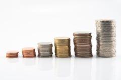 лестница монетки тайская Стоковое Изображение