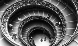 Лестница музея Ватикана Стоковое Изображение