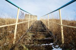 Лестница на горе! Стоковое Изображение