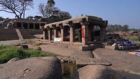 Лестница на пристани в Индии видеоматериал