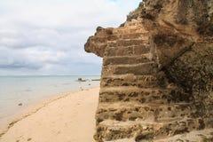 Лестница на пляже стоковая фотография rf