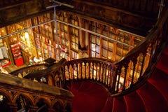 Лестница на bookstore Lello и Irmao в Порту Стоковое фото RF