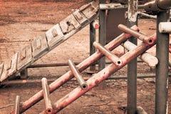 Лестница ностальгии детства ржавая Стоковые Фото