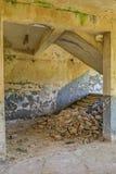 Лестница от старой фабрики Стоковое Изображение