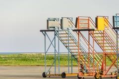 Лестница пассажира авиапорта Стоковые Фото