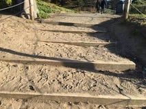 Лестница песка на пляже хлебопека, 1 Стоковое Изображение RF