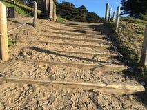 Лестница песка на пляже хлебопека, 2 Стоковая Фотография