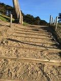 Лестница песка на пляже хлебопека, 3 Стоковые Изображения RF