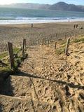 Лестница песка на пляже хлебопека, 4 Стоковая Фотография RF