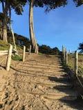 Лестница песка на пляже хлебопека, 5 Стоковое фото RF