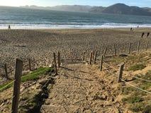 Лестница песка на пляже хлебопека, 6 Стоковое Изображение RF