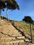 Лестница песка на пляже хлебопека, 7 Стоковое фото RF