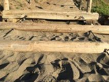 Лестница песка на пляже хлебопека, 9 Стоковая Фотография RF