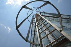 Лестница пожарной лестницы на здании Стоковая Фотография RF