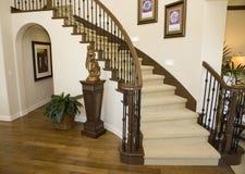 лестница прихожей Стоковая Фотография