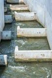 Лестница рыб как защита для рыб на плотине стоковая фотография rf