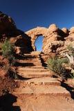 лестница свода к Стоковая Фотография
