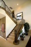 лестница случая домашняя роскошная деревянная Стоковая Фотография RF