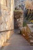 Лестница старого замка стоковая фотография rf