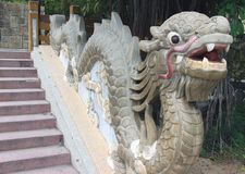 Лестница с драконом стоковое фото rf