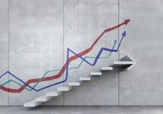 Лестница успеха и достижения Мультимедиа Стоковые Фото