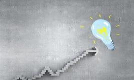 Лестница успеха и достижения Мультимедиа Стоковые Изображения