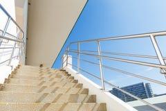 Лестница цемента стоковое изображение rf