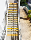 Лестница цемента стоковое изображение