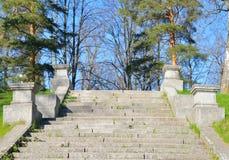 Лестница шпалеры в парке Mariental Стоковая Фотография