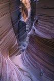 лестница Юта шлица узкой части памятника escalante каньона грандиозная Стоковое фото RF
