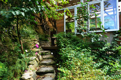 Лестница для того чтобы ослабить место Стоковое Изображение RF