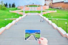 Лестница Chkalov стоковые фотографии rf