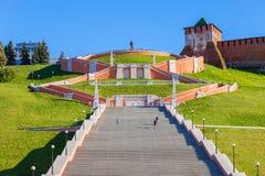 Лестница Chkalov, Nizhny Novgorod Стоковое Фото