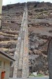 Лестница Jacobs, остров Острова Св. Елена Стоковая Фотография