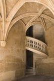 лестница paris cluny музея старая стоковое изображение