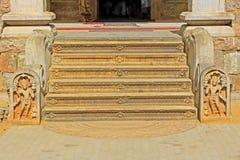Лестница ` s Jaya Sri Maha Bodhi, всемирное наследие ЮНЕСКО Шри-Ланки Стоковое Изображение RF