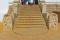 Лестница ` s Jaya Sri Maha Bodhi, всемирное наследие ЮНЕСКО Шри-Ланки Стоковое Фото