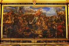лестница vatican rome музея Италии двойного helix Картина короля января Sobieski в вене во время войны с турками Картина к январь Стоковое Изображение