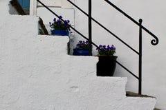 лестницы белые стоковые фото