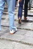 лестницы вверх гуляя Стоковое Фото